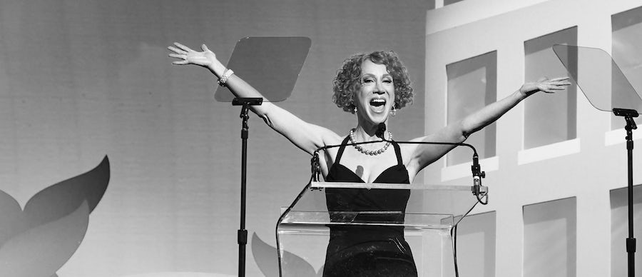 Kathy Griffin takes the stage as host of the 11th Annual Shorty Awards