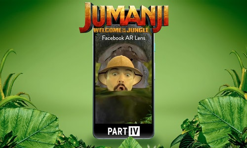 Jumanji: Welcome to the Jungle Facebook AR Effect - The