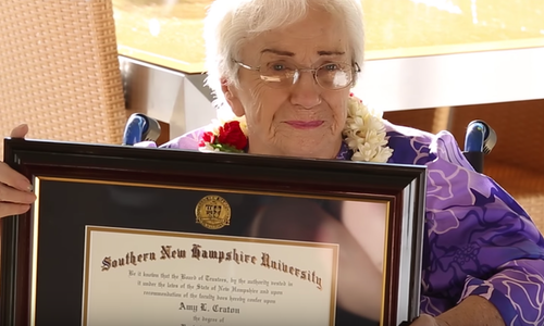 Snhu Online Degrees >> Never Stop Learning 94 Year Old Online Student Graduates Snhu The