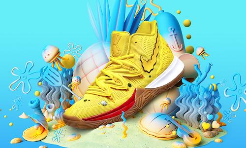 billetera A través de fluctuar  SpongeBob SquarePants x Kyrie Irving x Nike - The Shorty Awards
