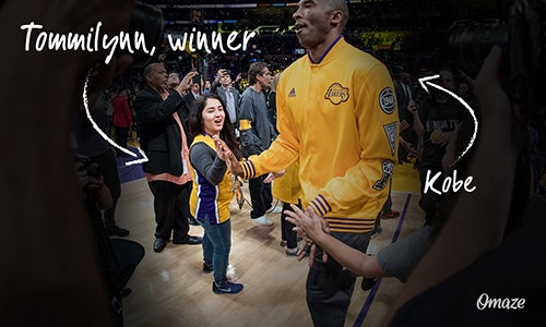e0d797d28dd Omaze   Kobe Bryant Invite Fans to Support 3 Incredible Causes and Sit  Front Row at Kobe s Last Game