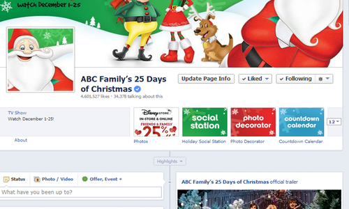 Abc Family 25 Days Of Christmas.Abc Family S 25 Days Of Christmas The Shorty Awards
