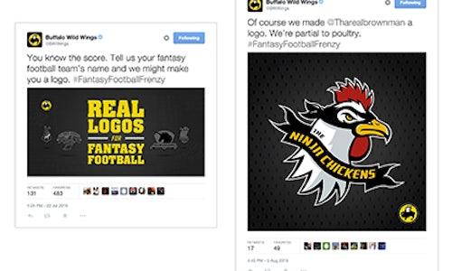 Buffalo Wild Wings Fantasy Football Logos - The Shorty Awards