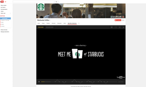 Meet Me at Starbucks - The Shorty Awards
