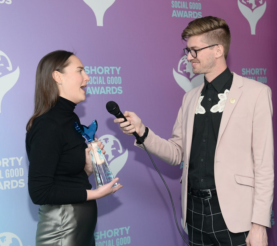Brand interview at the Shorty Social Good Awards